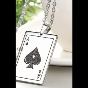 Other - Just In! Ace ♠️'s Stainless Steel charm & Necklace